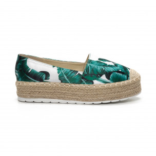 Γυναικείες πράσινες eσπαντρίγιες Sweet Shoes