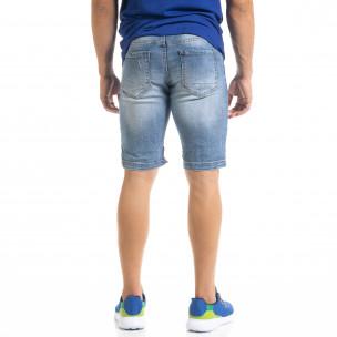 Ανδρικό γαλάζιο τζιν βερμούδα Andrea Falco  2