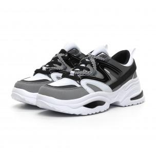 Chunky ανδρικά γκρι αθλητικά παπούτσια 2