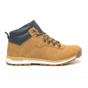 Ανδρικά camel παπούτσια με λεπτομέρεια τύπου Hiker 2