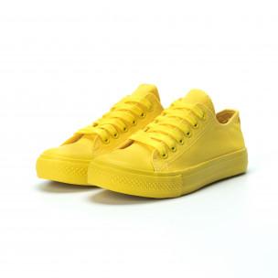 Γυναικεία κίτρινα sneakers  2