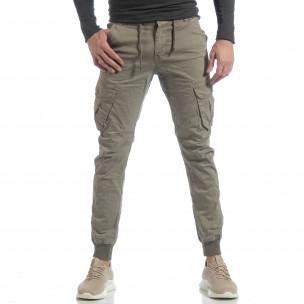 Ανδρικό μπεζ Cargo Jogger παντελόνι  2