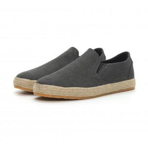 Ανδρικές μαύρες εσπαντρίγιες τύπου sneakers  2