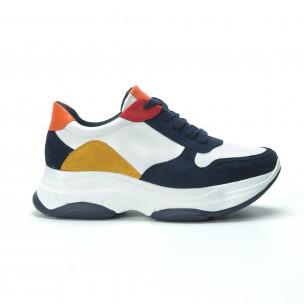 Γυναικεία πολύχρωμα sneakers με πλατφόρμα 2
