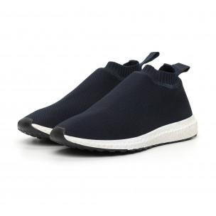 Ανδρικά slip-on μπλέ αθλητικά παπούτσια κάλτσα 2