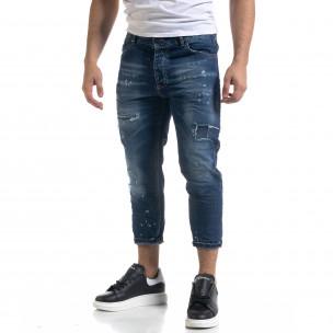 Ανδρικό γαλάζιο τζιν Duca Homme