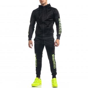 Ανδρικό μαύρο αθλητική φόρμα G.M.M