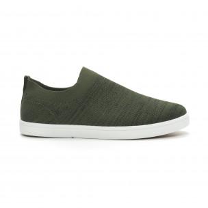 Ανδρικά πράσινα μελάνζ sneakers κάλτσα