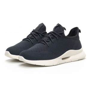 Ανδρικά σκούρα γκρι αθλητικά παπούτσια Hole design  2