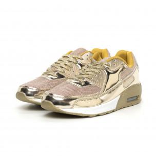 Ανδρικά χρυσά αθλητικά παπούτσια με αερόσολα 2