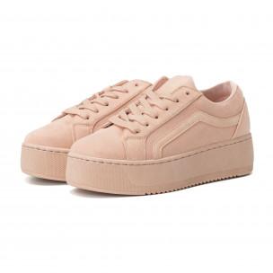 Γυναικεία ροζ All pink sneakers με πλατφόρμα 2