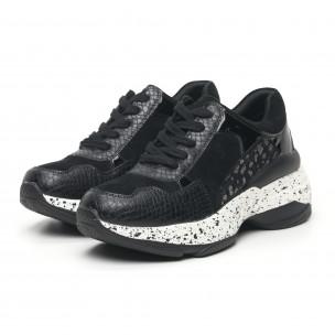 Γυναικεία μαύρα αθλητικά παπούτσια  2