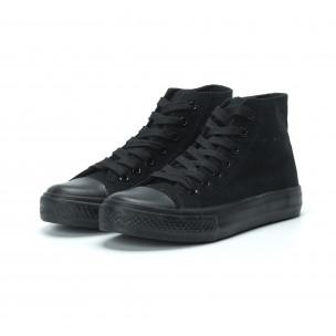 Γυναικεία μαύρα ψηλά sneakers   2