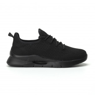 Ανδρικά μαύρα αθλητικά παπούτσια Hole design ελαφρύ μοντέλο