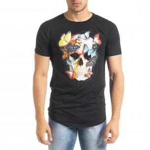 Ανδρική μαύρη κοντομάνικη μπλούζα Flex Style 2