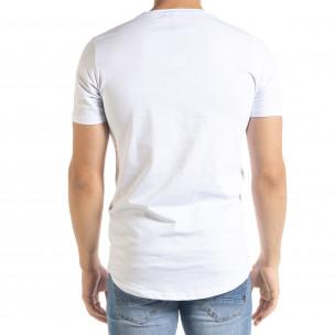 Ανδρική λευκή κοντομάνικη μπλούζα Flex Style 2