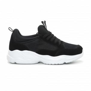 Ανδρικά μαύρα αθλητικά παπούτσια Chunky