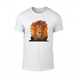 Κοντομάνικη μπλούζα Lion λευκό