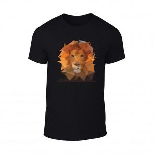 Κοντομάνικη μπλούζα Lion μαύρο TEEMAN