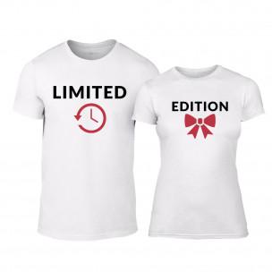 Μπλουζες για ζευγάρια Limited Edition λευκό