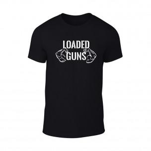 Κοντομάνικη μπλούζα Loaded Guns μαύρο Χρώμα Μέγεθος M