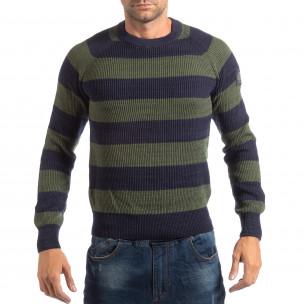 Ανδρικό γαλάζιο πουλόβερ RESERVED