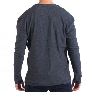 Ανδρική μπλε μελάνζ μπλούζα με τσέπη RESERVED  2