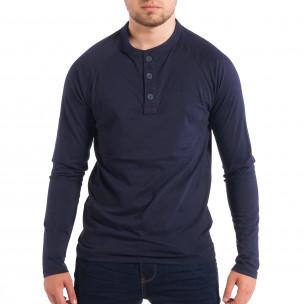 Ανδρική μπλε μπλούζα με κουμπιά RESERVED