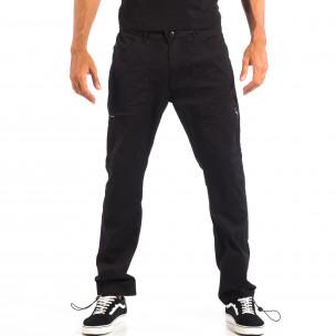 Ανδρικό μαύρο παντελόνι CROPP