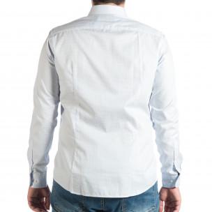 Ανδρικό γαλάζιο πουκάμισο  2
