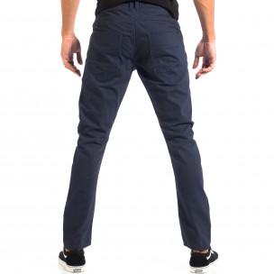 Ανδρικό μπλε παντελόνι από λεπτό ύφασμα CROPP  2