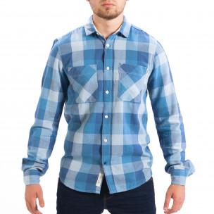Ανδρικό γαλάζιο πουκάμισο CROPP