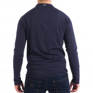 Ανδρική μπλε μπλούζα με κουμπιά RESERVED 2