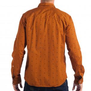 Ανδρικό Slim fit πουκάμισο σε χρώμα camel CROPP  2