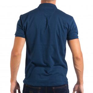 Ανδρική γαλάζια πολο RESERVED  2