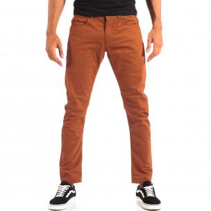 Ανδρικό λεπτό παντελόνι σε χρώμα camel CROPP