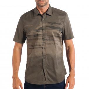 Ανδρικό πράσινο κοντομάνικο πουκάμισο RESERVED