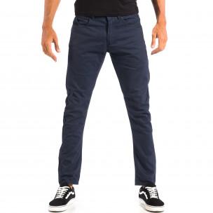 Ανδρικό μπλε παντελόνι από λεπτό ύφασμα CROPP