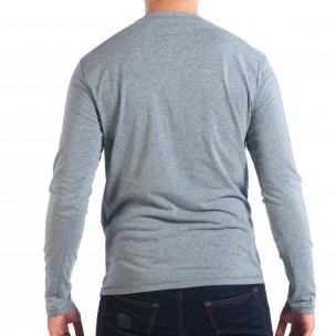Ανδρική γαλάζια μπλούζα RESERVED  2