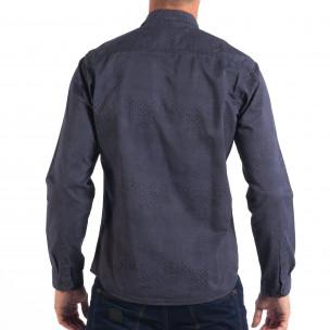 Ανδρικό μπλε Regular πουκάμισο  2