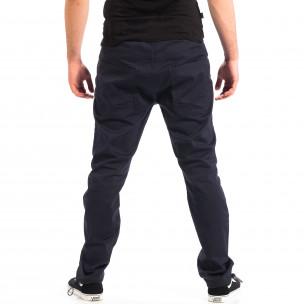 Ανδρικό μπλε παντελόνι με λάστιχο στις άκρες CROPP  2