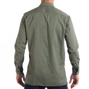 Ανδρικό πράσινο Military πουκάμισο μοντέλο Large RESERVED  2