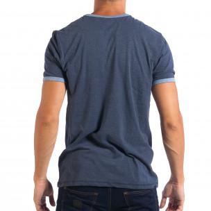 Ανδρική μπλε κοντομάνικη μπλούζα RESERVED  2