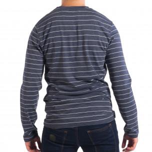 Ανδρική μπλε ριγέ μπλούζα RESERVED  2