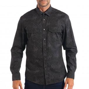 Ανδρικό γκρι πουκάμισο παραλλαγής RESERVED