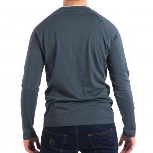 Ανδρική μπλε μπλούζα RESERVED Organic Cotton  2
