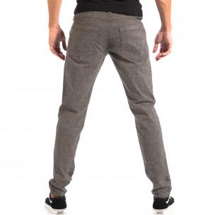 Ανδρικό γκρι Slim παντελόνι RESERVED  2