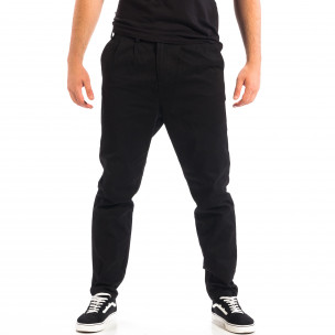 Ανδρικό μαύρο Cropped chino παντελόνι RESERVED