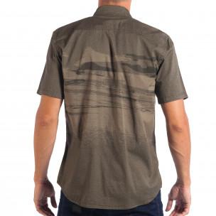 Ανδρικό πράσινο κοντομάνικο πουκάμισο RESERVED  2
