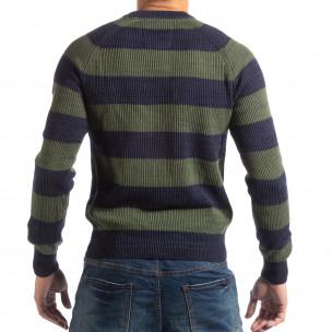 Ανδρικό γαλάζιο πουλόβερ RESERVED  2